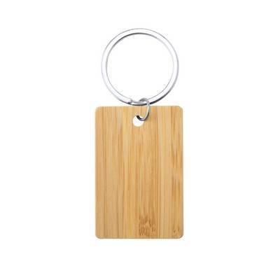 Bambusowy brelok do kluczy