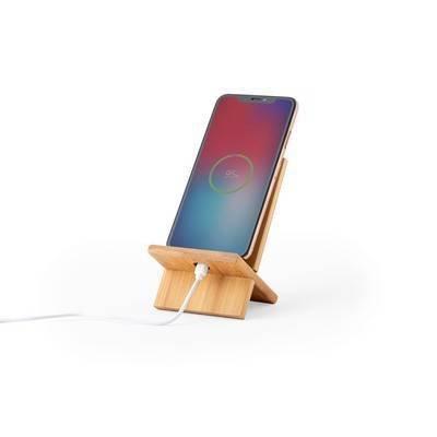 Bambusowy stojak na telefon