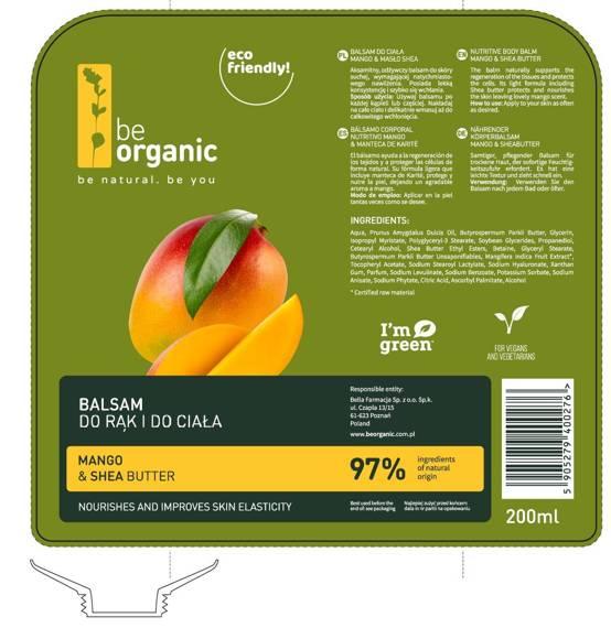 Be Organic Balsam do rąk i do ciała  Mango & Masło Shea