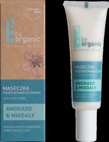 Be Organic Maseczka przeciwzmarszczkowa  Awokado & Migdały