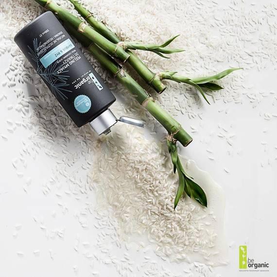Be Organic  Peeling myjący do twarzy Bambus & Ryż