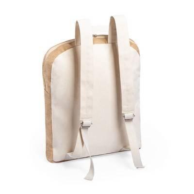 Plecak z laminowanej juty z bawełnianymi elementami